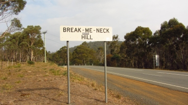 Some ridiculous names of hills in Tassie...