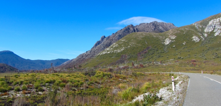 The countryside in the West of Tassie is rugged and handsome